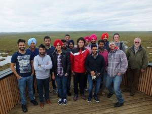 Punjabi Students on Flows Lookout
